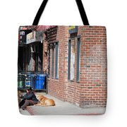 Resting On The Corner Tote Bag