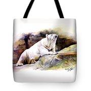 Resting Polar Bear Tote Bag