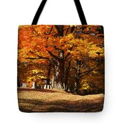 Resting Under Maples Tote Bag