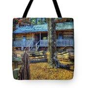 Restored Log Cabin Tote Bag