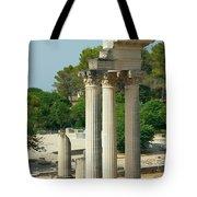 Restored Roman Columns In Glanum Tote Bag