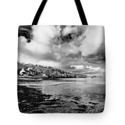 Restronguet Weir In Monochrome Tote Bag
