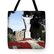 Resurrection Of Jesus Statue Tote Bag by Rose Santuci-Sofranko