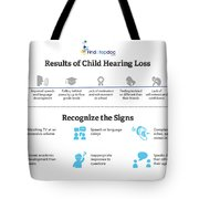 Resutls Of Child Hearing Loss Tote Bag