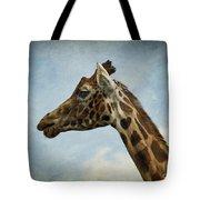 Reticulated Giraffe Head Tote Bag