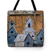 Retired Bird Houses By Prankearts Fine Arts Tote Bag