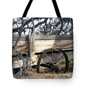 Retired Farm Wagon Tote Bag