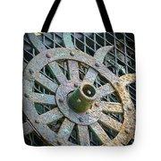Retired Plow Wheel Tote Bag