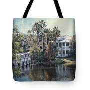 Retirement On The River 01 Textured Tote Bag