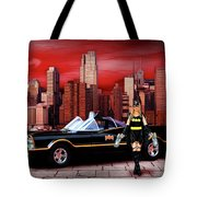 Retro Bat Woman Tote Bag