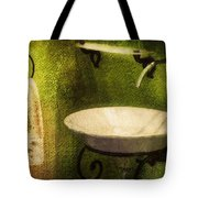 Retro Bathroom Grunge Tote Bag