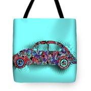 Retro Beetle Car 5 Tote Bag