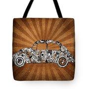 Retro Beetle Car Tote Bag