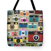 Retro Camera Pattern Tote Bag