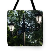 Retro Chic Streetlamps - Old World Charm With A Modern Twist Tote Bag