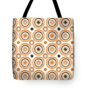 Retro Circles Pattern Tote Bag