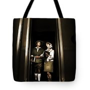 Retro Couple On Safari Tote Bag