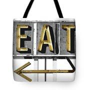 Retro Diner Sign Tote Bag
