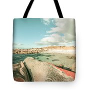 Retro Filtered Beach Background Tote Bag