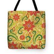Retro Floral Seamless Pattern Tote Bag