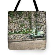 Retro Italian Scooter Tote Bag