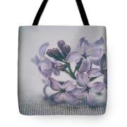 Retro Lilac Flower Tote Bag