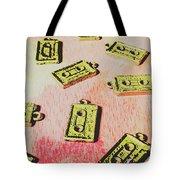Retro Music Tapes Tote Bag