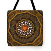 Retro Peace With Love And A Heart Of Gold Tote Bag