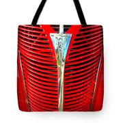 Retro Red Grille Tote Bag