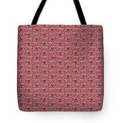 Retro Red Pattern Tote Bag