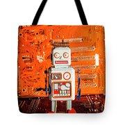 Retro Robotic Nostalgia Tote Bag
