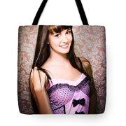 Retro Showgirl Tote Bag