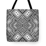 Retro Square Background Tote Bag
