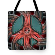 Retro Style Peace Sign Tote Bag