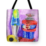 Retro Toys Tote Bag