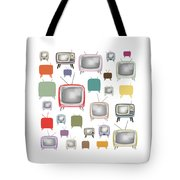 Retro T.v. Tote Bag