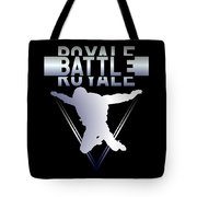 Retro Vintage 90s Chrome Skydiver Battle Royale Gamer T Shirt Tote Bag