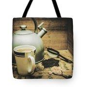 Retro Vintage Toned Tea Still Life In Crate Tote Bag