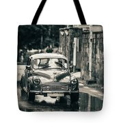 Retromobile. Morris Minor. Vintage Monochrome Tote Bag