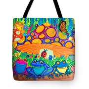 Return To Happy Frog Meadow Tote Bag