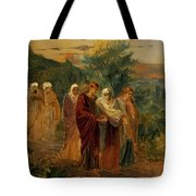 Returning From The Burial Of Christ Tote Bag