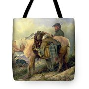 Returning From The Hill Tote Bag by Richard Ansdell