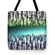 Reversible Futuristic Megalopolis City Tote Bag