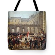 Revolution Of 1830 Departure Of King Louis-philippe For The Paris Townhall Horace Vernet Tote Bag