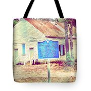 Revolutionary War Skirmish At Horn Creek Baptist Church Tote Bag