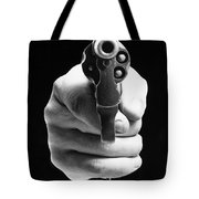Revolver Aimed At You Tote Bag