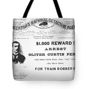 Reward Poster For The Arrest Of Oliver Perry Issued  Tote Bag