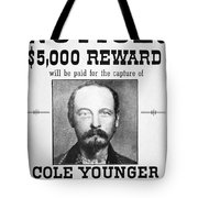 Reward Poster For Thomas Cole Younger Tote Bag