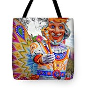 Rex Rides In New Orleans Tote Bag