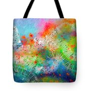 Rhapsody In Blue, And Red, And Green Tote Bag